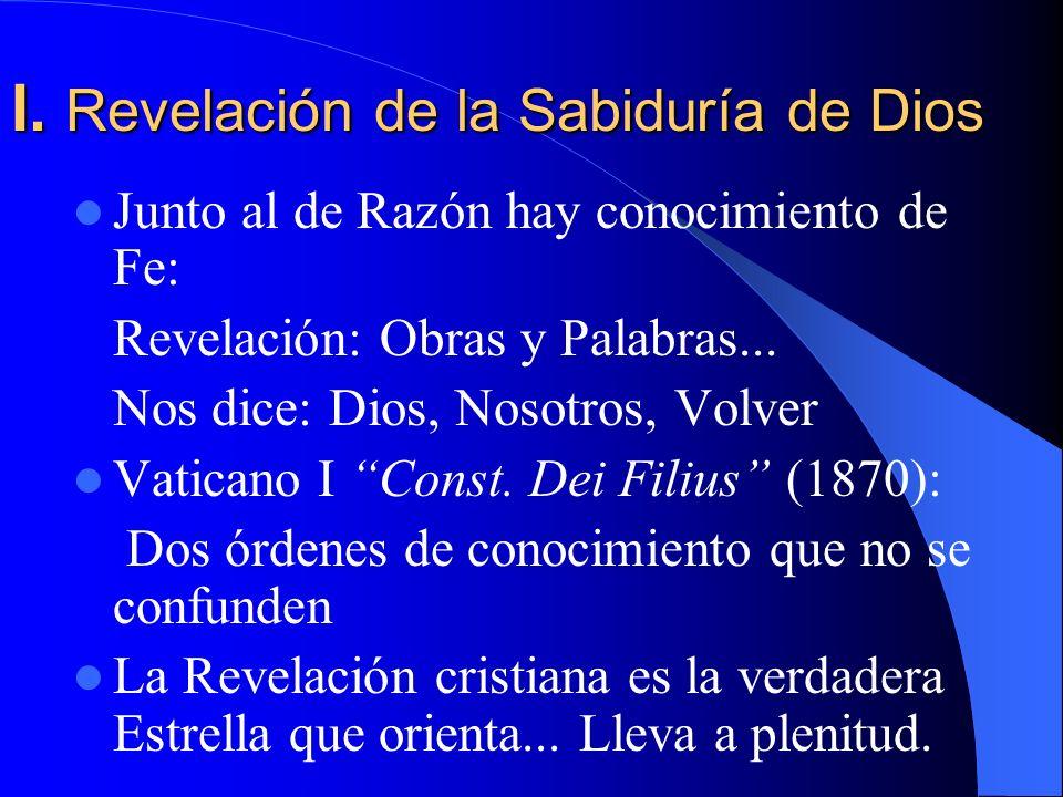 I. Revelación de la Sabiduría de Dios