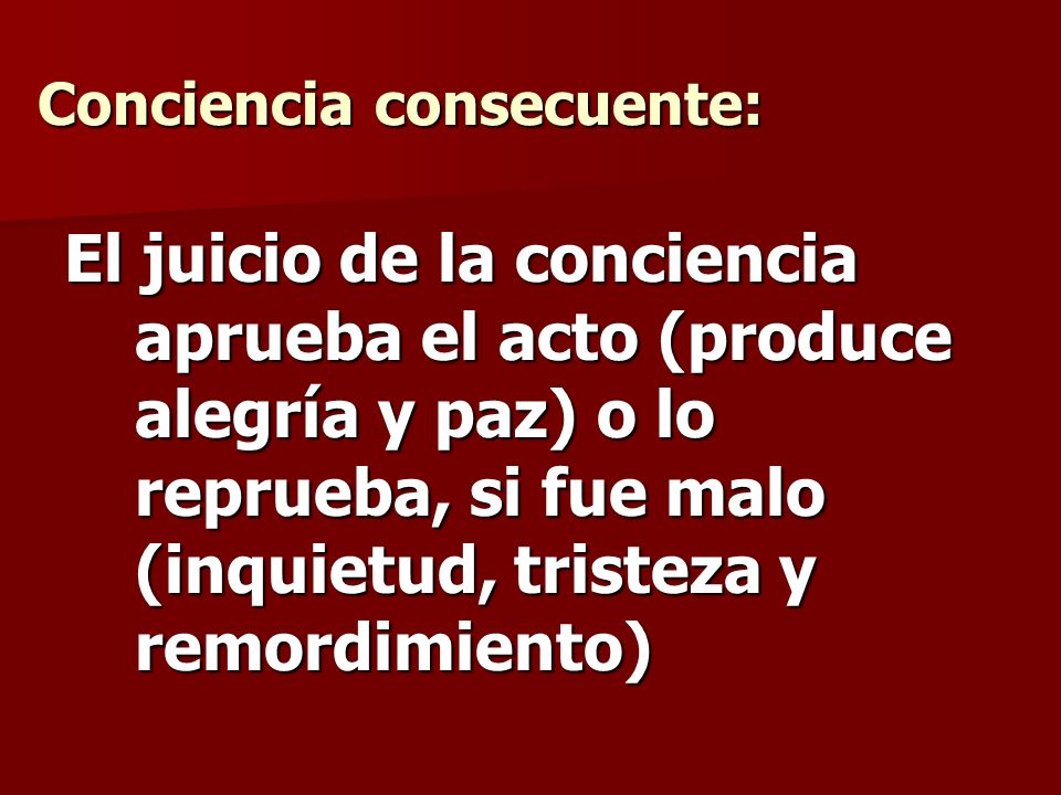 Conciencia consecuente: