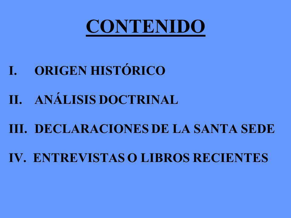 CONTENIDO ORIGEN HISTÓRICO ANÁLISIS DOCTRINAL