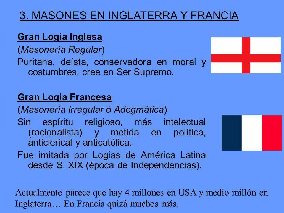3. MASONES EN INGLATERRA Y FRANCIA