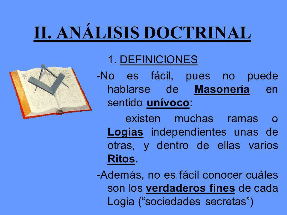 II. ANÁLISIS DOCTRINAL 1. DEFINICIONES
