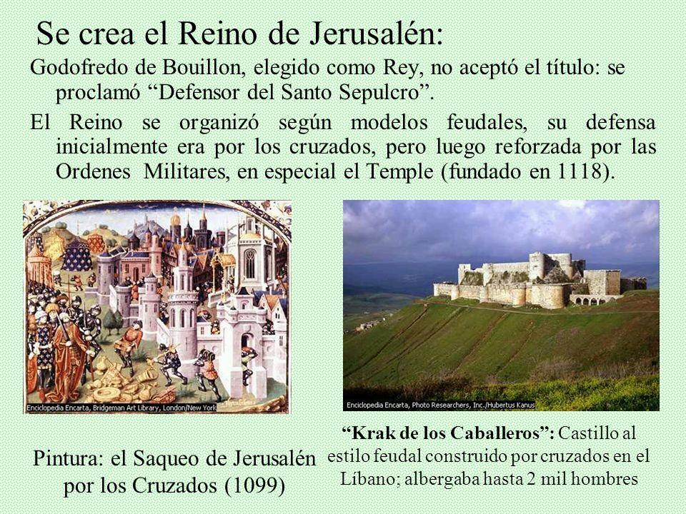 Pintura: el Saqueo de Jerusalén por los Cruzados (1099)