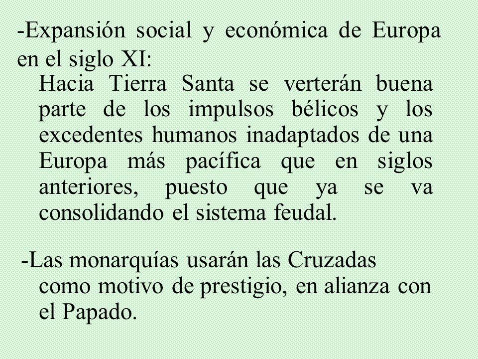 -Expansión social y económica de Europa en el siglo XI: