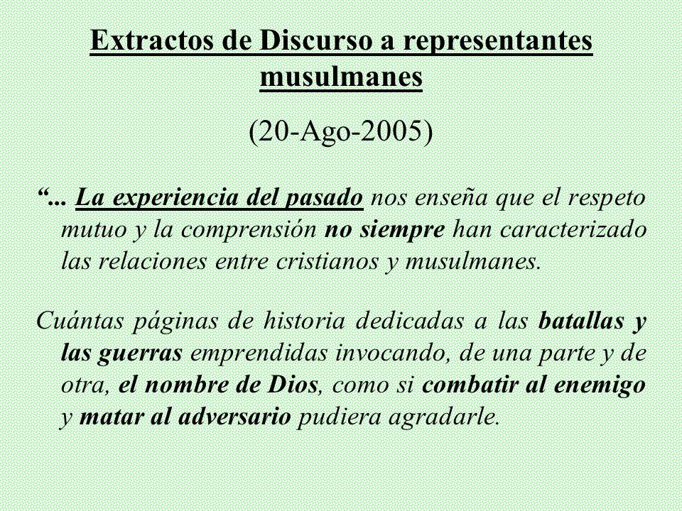 Extractos de Discurso a representantes musulmanes