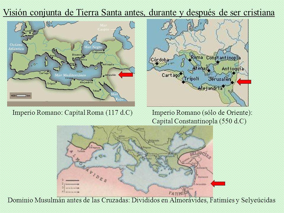 Visión conjunta de Tierra Santa antes, durante y después de ser cristiana
