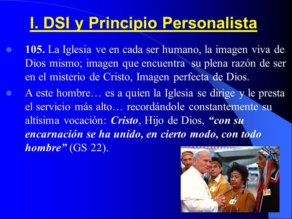 I. DSI y Principio Personalista