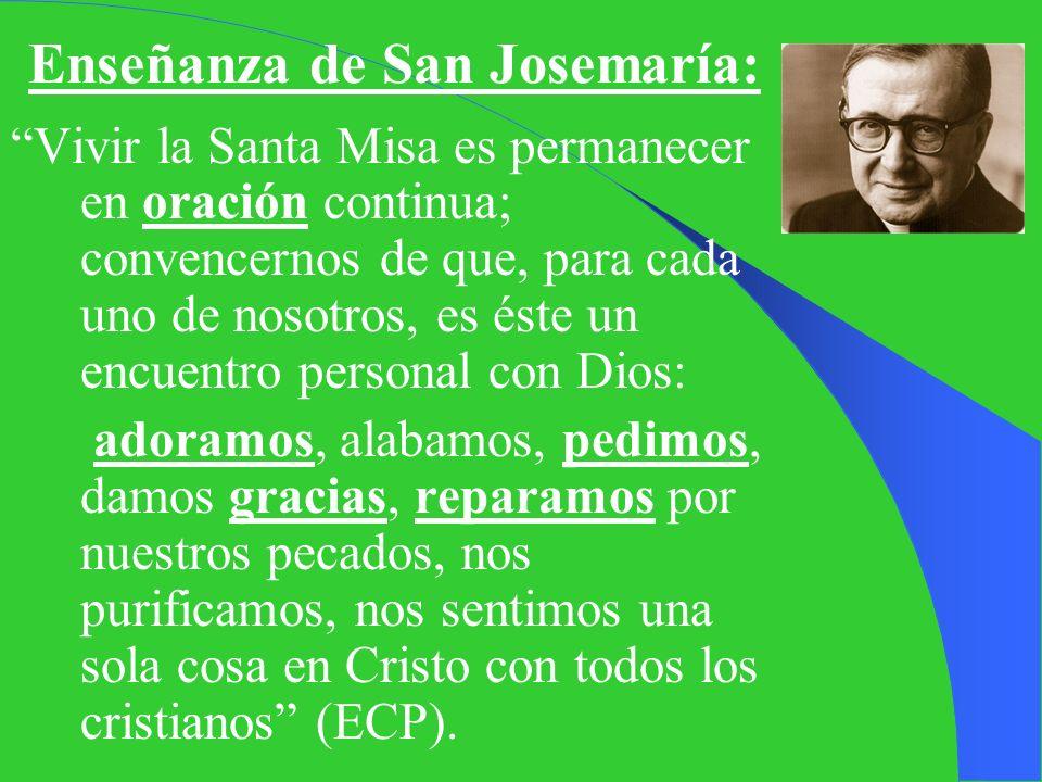 Enseñanza de San Josemaría: