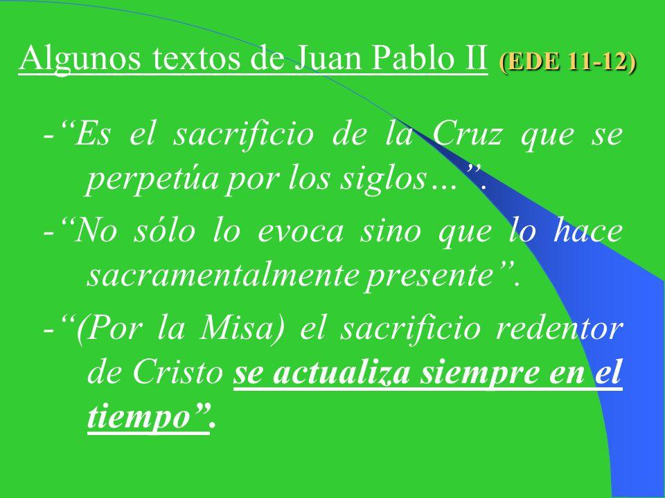 Algunos textos de Juan Pablo II (EDE 11-12)