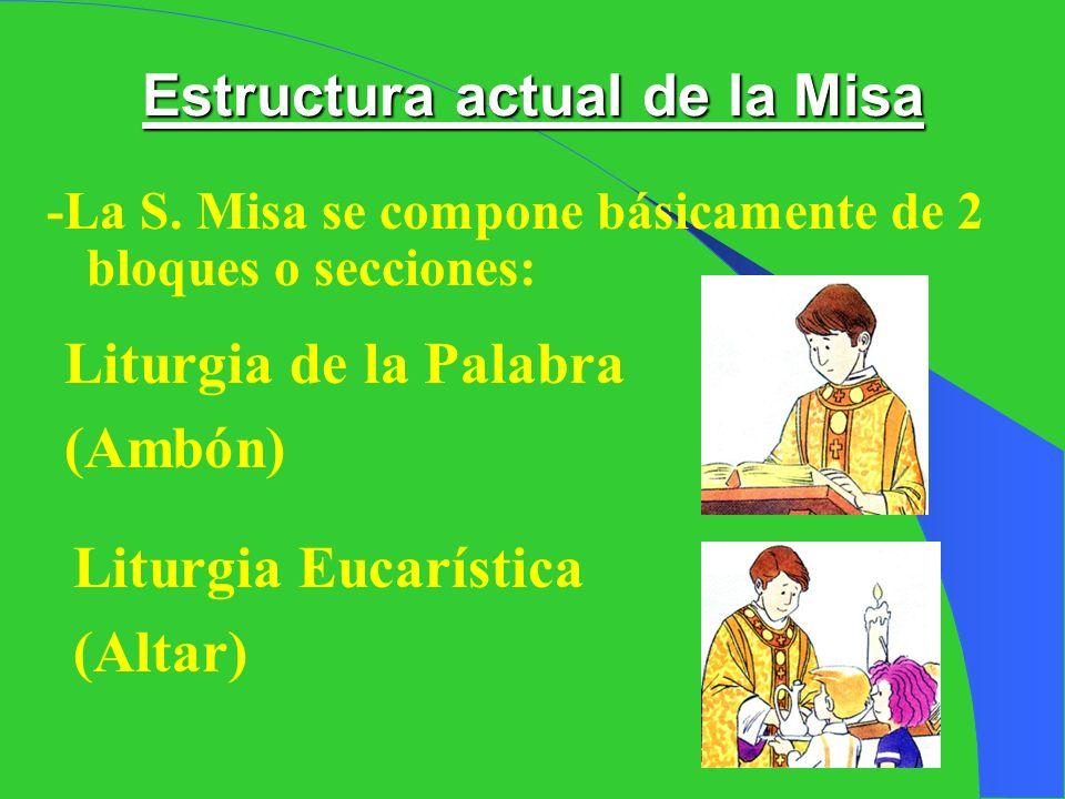 Estructura actual de la Misa