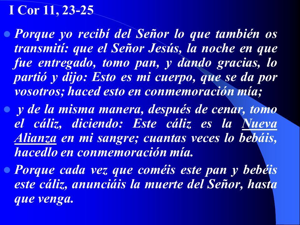 I Cor 11, 23-25