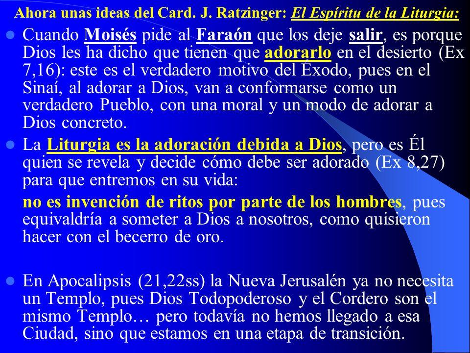 Ahora unas ideas del Card. J. Ratzinger: El Espíritu de la Liturgia: