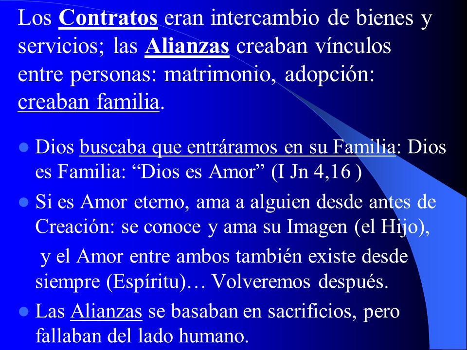 Los Contratos eran intercambio de bienes y servicios; las Alianzas creaban vínculos entre personas: matrimonio, adopción: creaban familia.