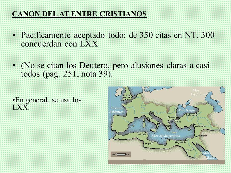 CANON DEL AT ENTRE CRISTIANOS