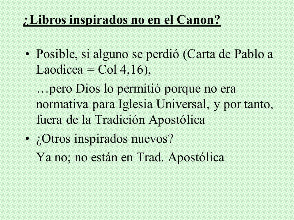 ¿Libros inspirados no en el Canon