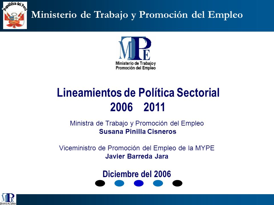 Lineamientos de Política Sectorial 2006 2011