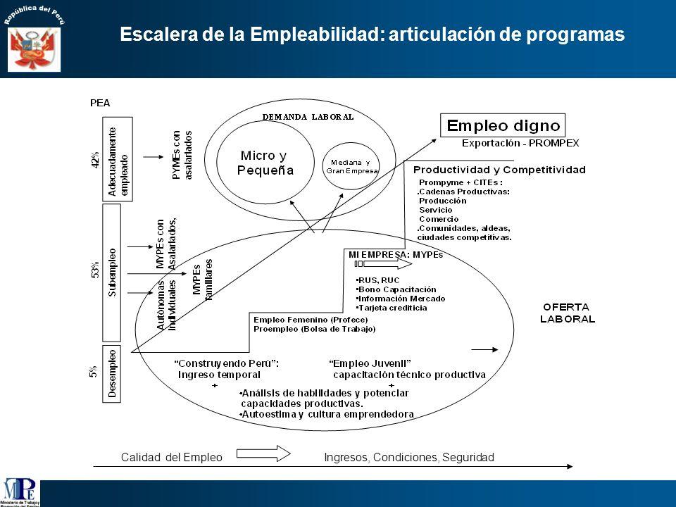 Escalera de la Empleabilidad: articulación de programas