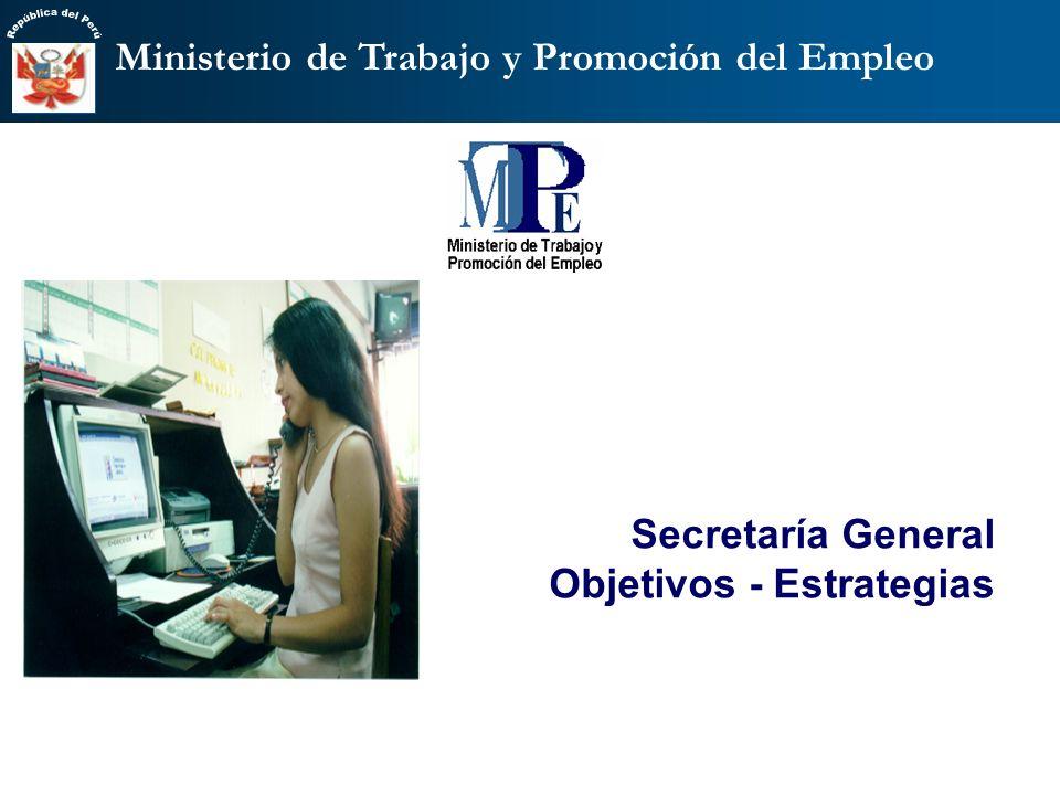 Secretaría General Objetivos - Estrategias