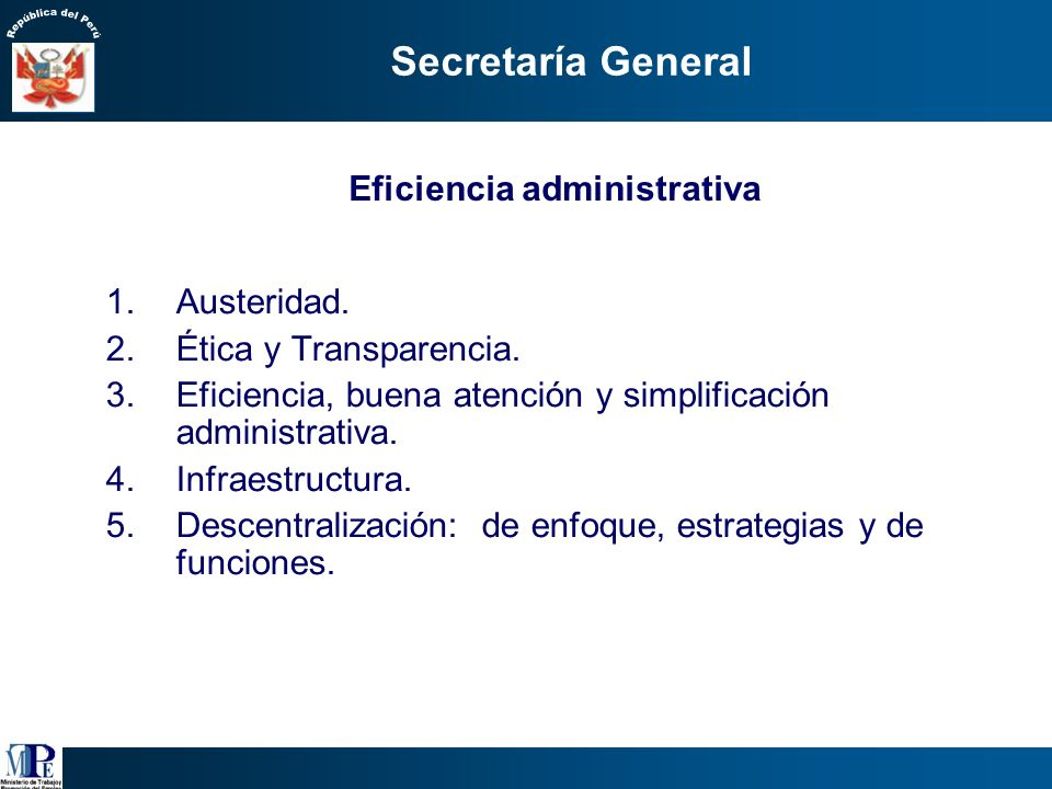 Eficiencia administrativa