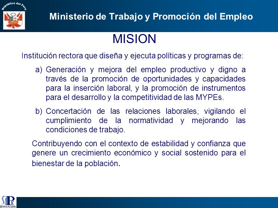 Ministerio de Trabajo y Promoción del Empleo