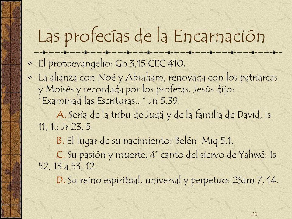Las profecías de la Encarnación