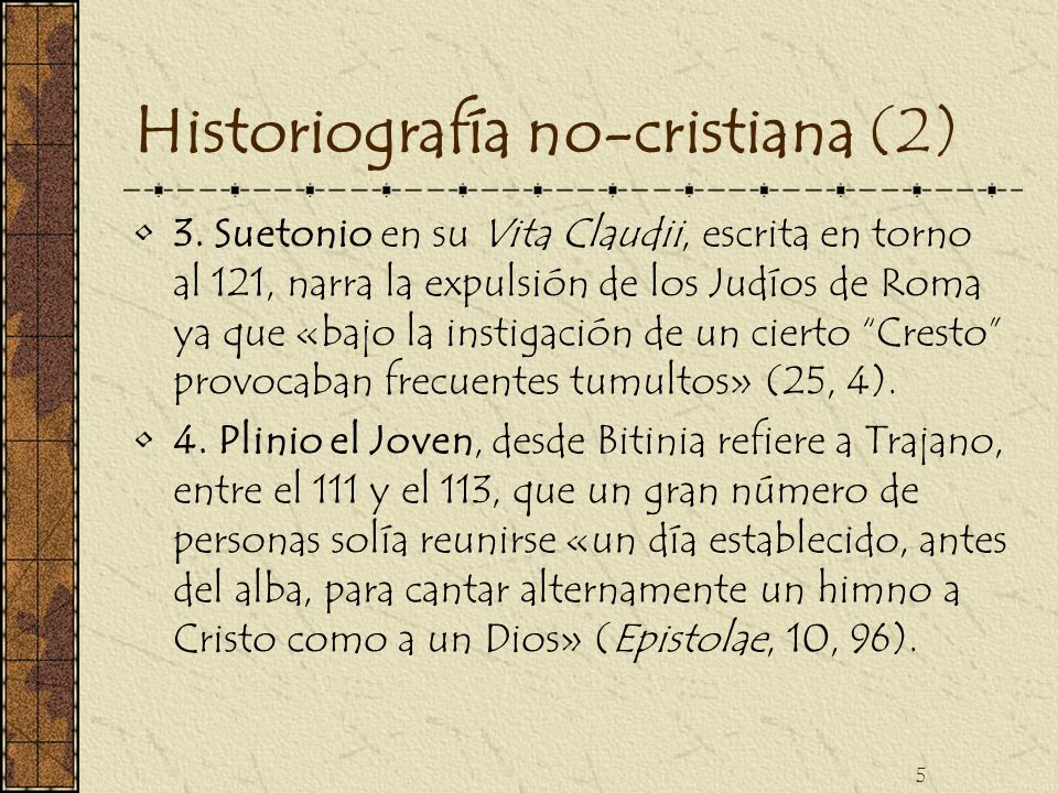 Historiografía no-cristiana (2)