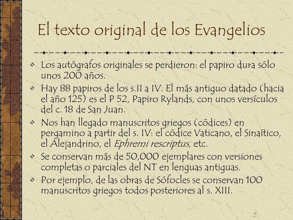 El texto original de los Evangelios