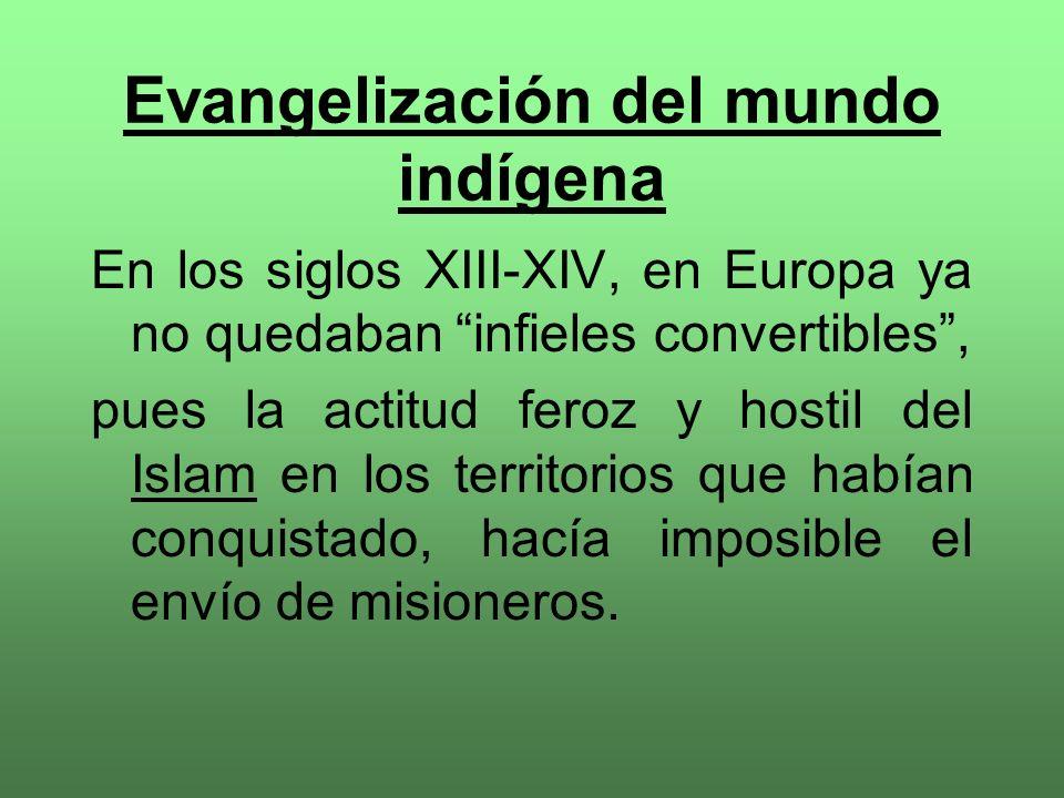 Evangelización del mundo indígena