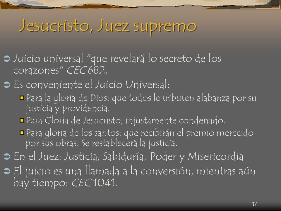 Jesucristo, Juez supremo