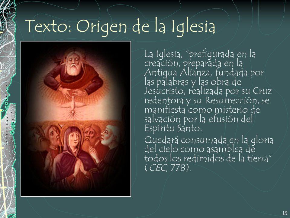Texto: Origen de la Iglesia
