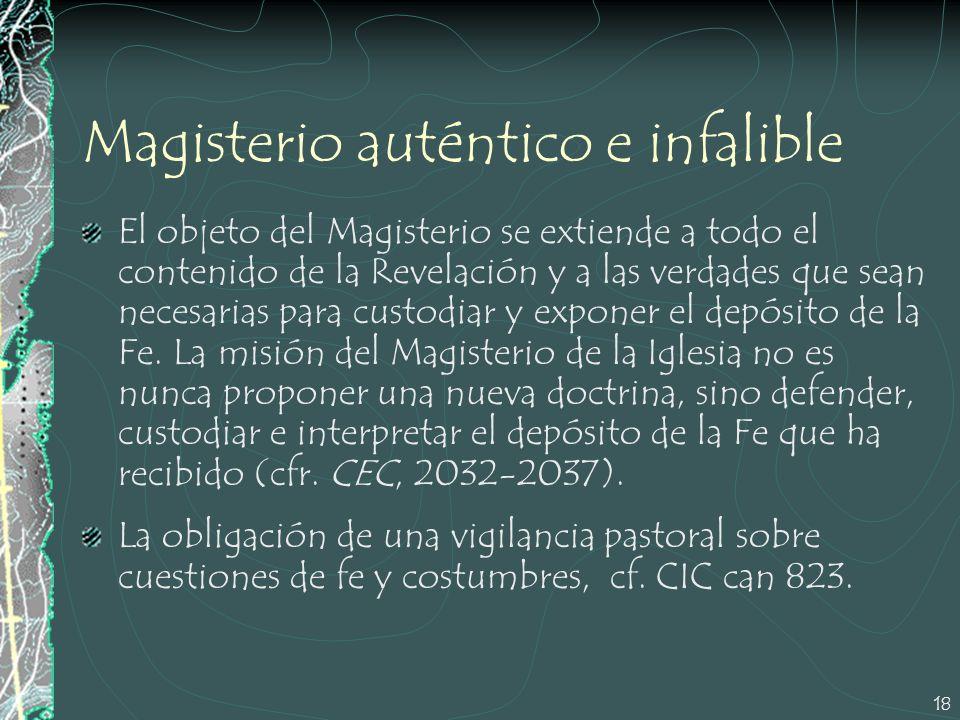 Magisterio auténtico e infalible