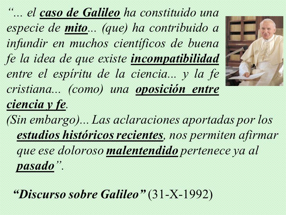 . el caso de Galileo ha constituido una especie de mito
