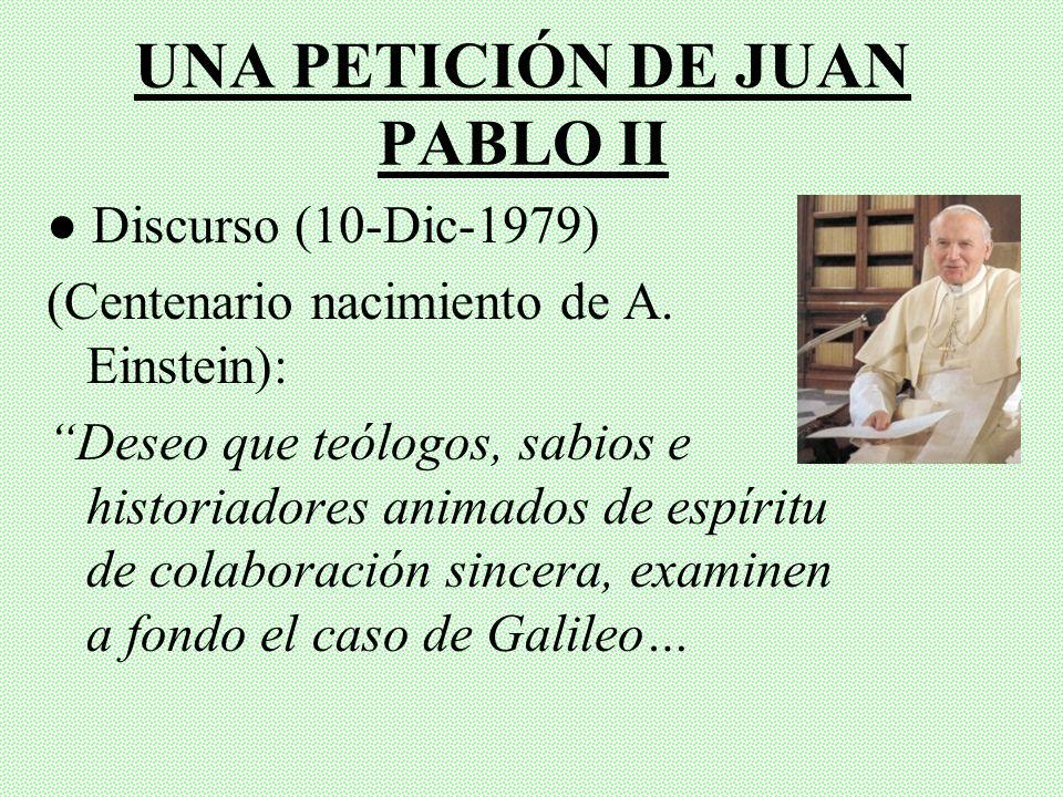 UNA PETICIÓN DE JUAN PABLO II