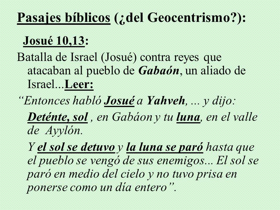 Pasajes bíblicos (¿del Geocentrismo ):