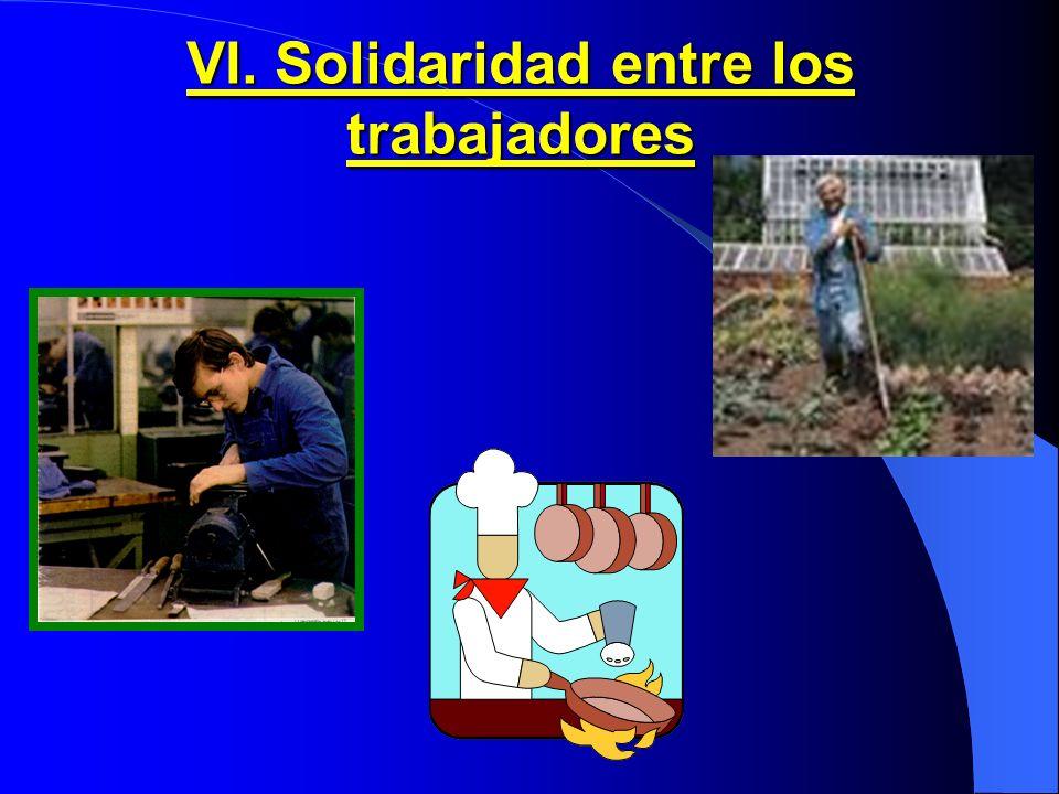 VI. Solidaridad entre los trabajadores