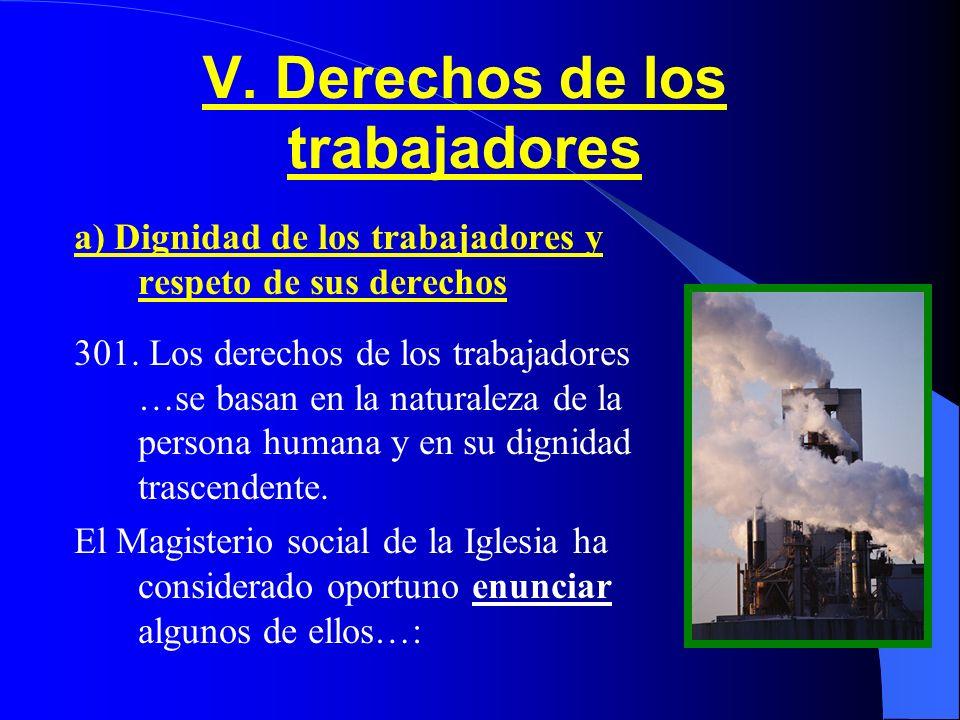V. Derechos de los trabajadores