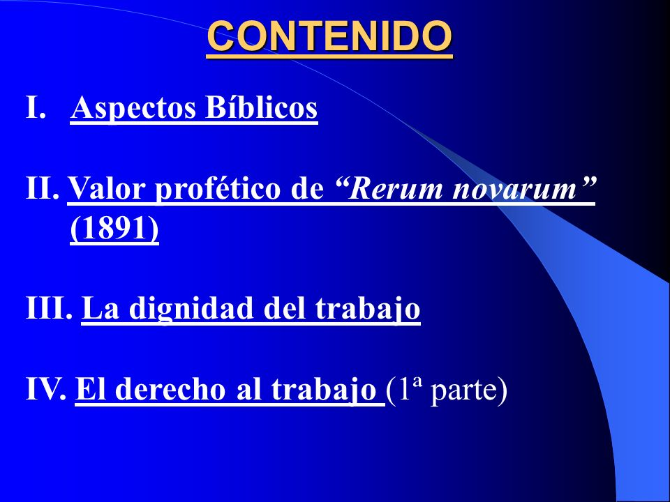 CONTENIDO Aspectos Bíblicos