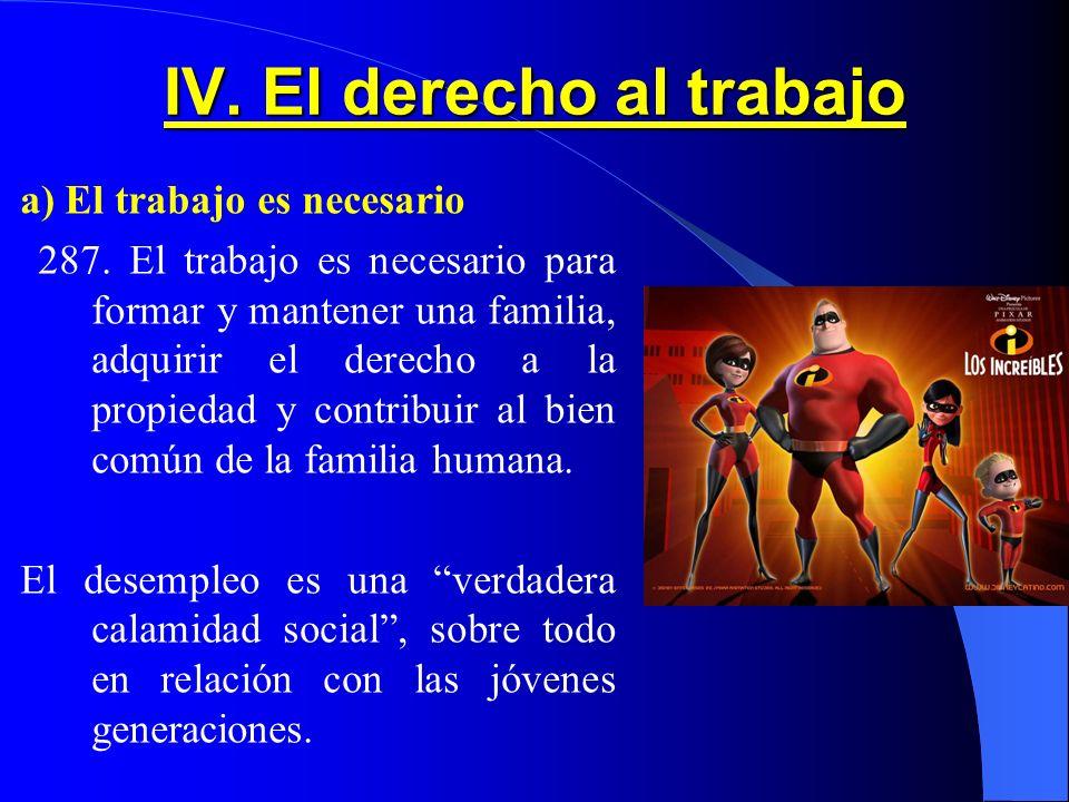 IV. El derecho al trabajo