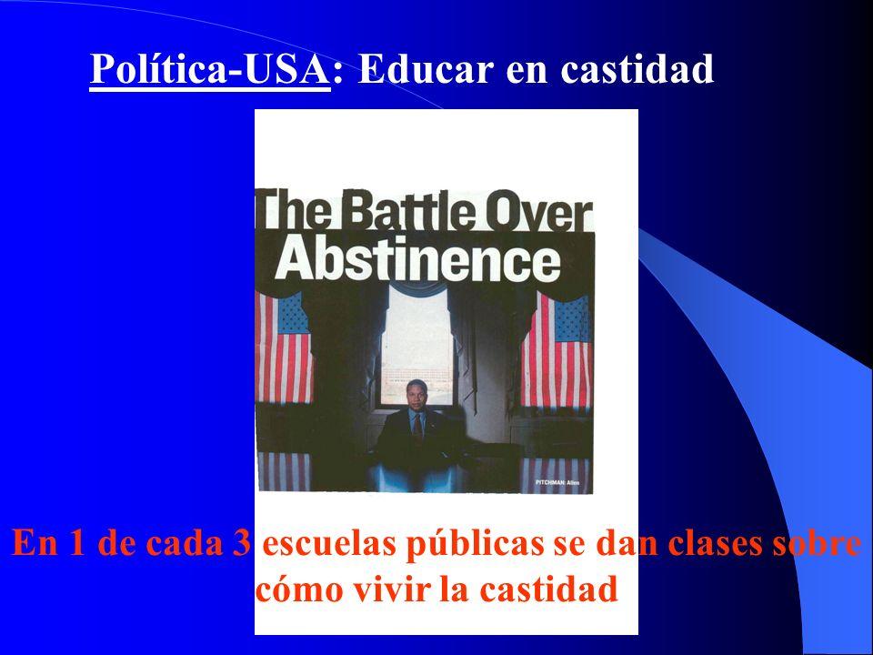 Política-USA: Educar en castidad