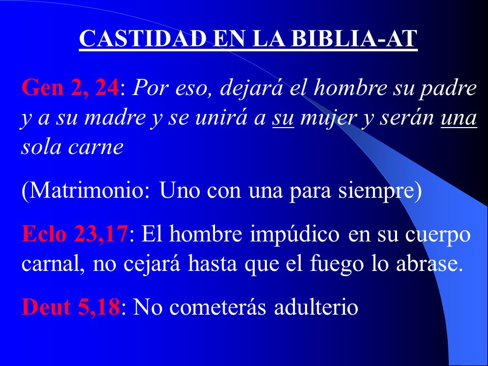 CASTIDAD EN LA BIBLIA-AT