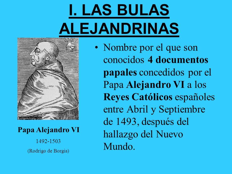 I. LAS BULAS ALEJANDRINAS
