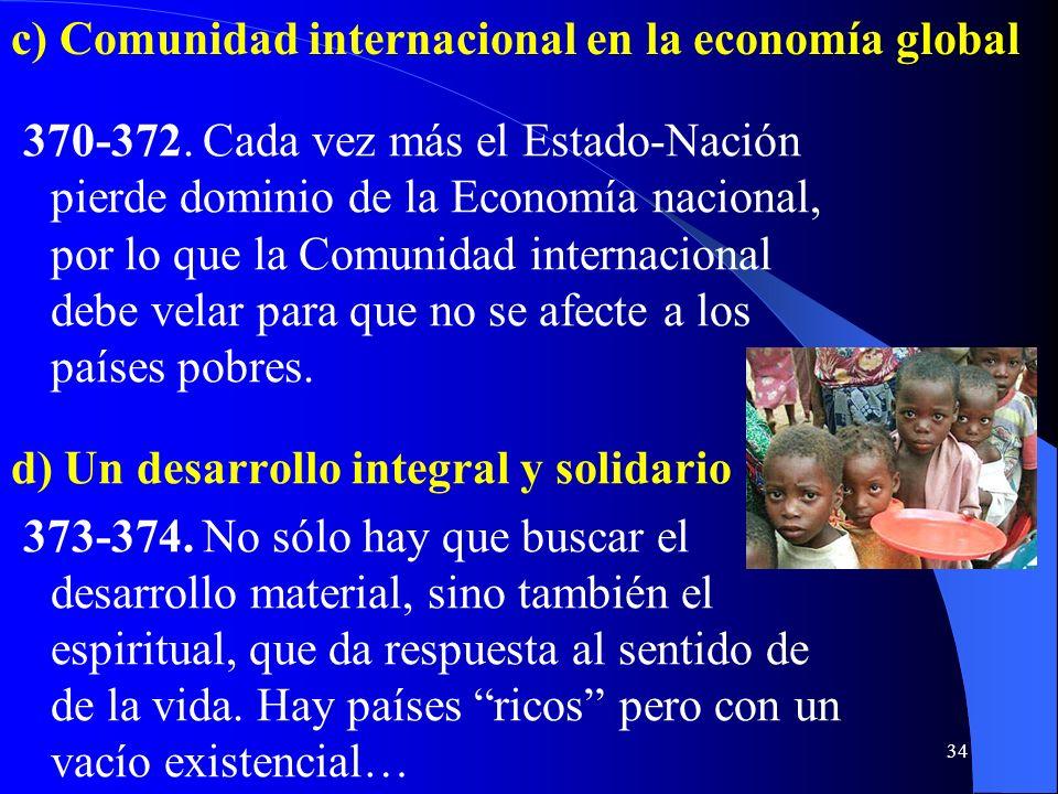 c) Comunidad internacional en la economía global