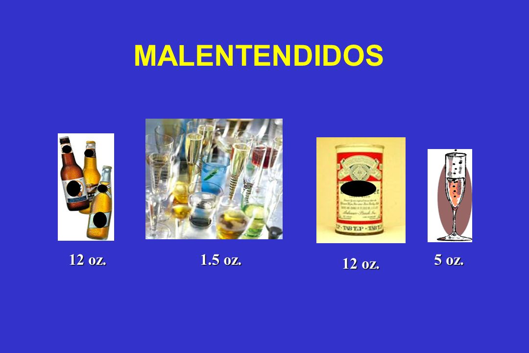 MALENTENDIDOS 12 oz. 1.5 oz. 5 oz. 12 oz.