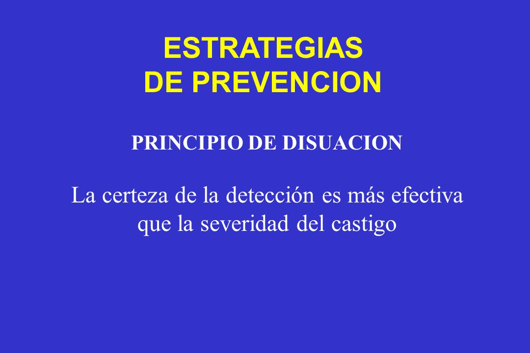 PRINCIPIO DE DISUACION