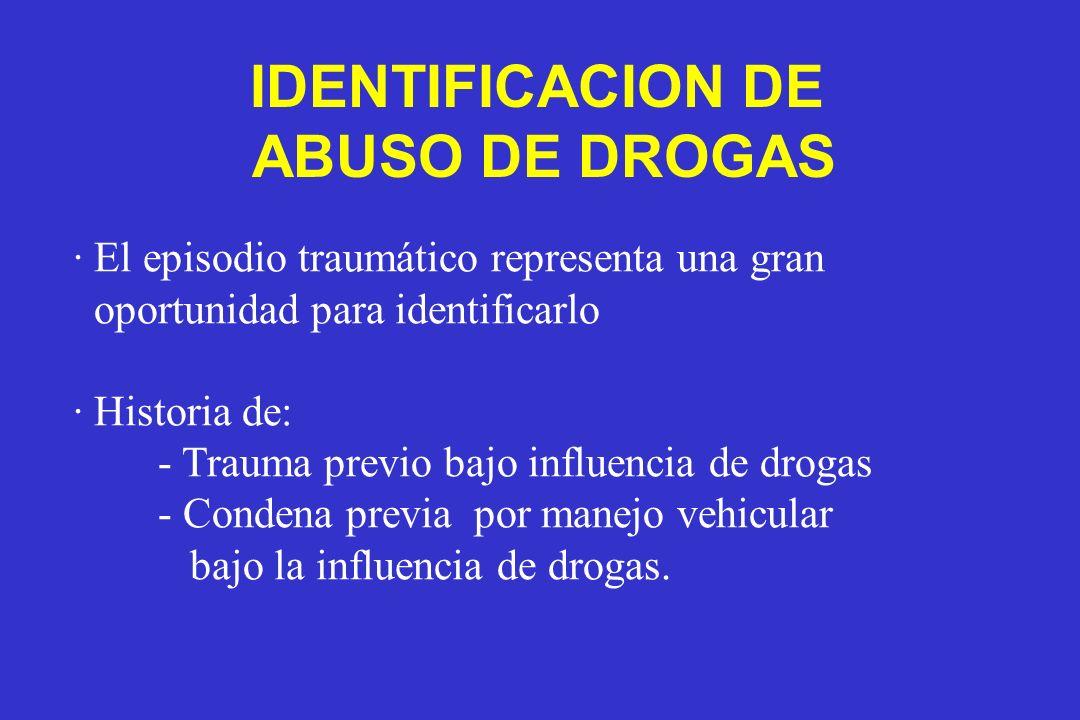 IDENTIFICACION DE ABUSO DE DROGAS
