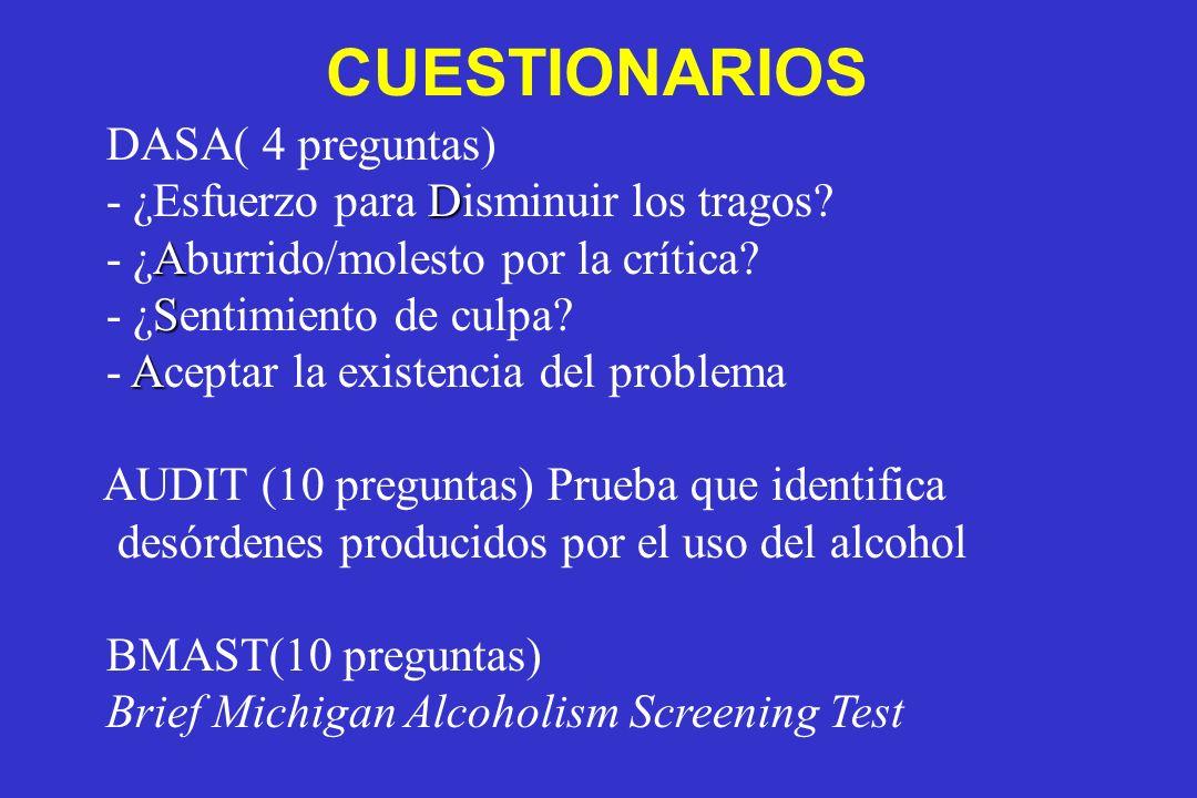 CUESTIONARIOS DASA( 4 preguntas)