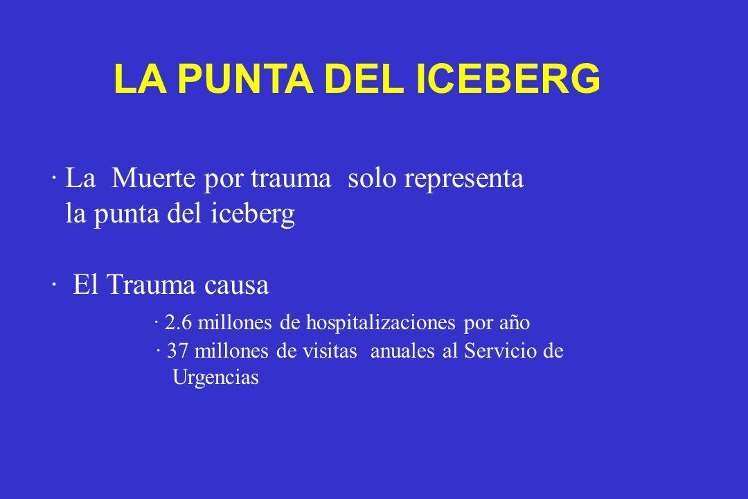 LA PUNTA DEL ICEBERG · La Muerte por trauma solo representa