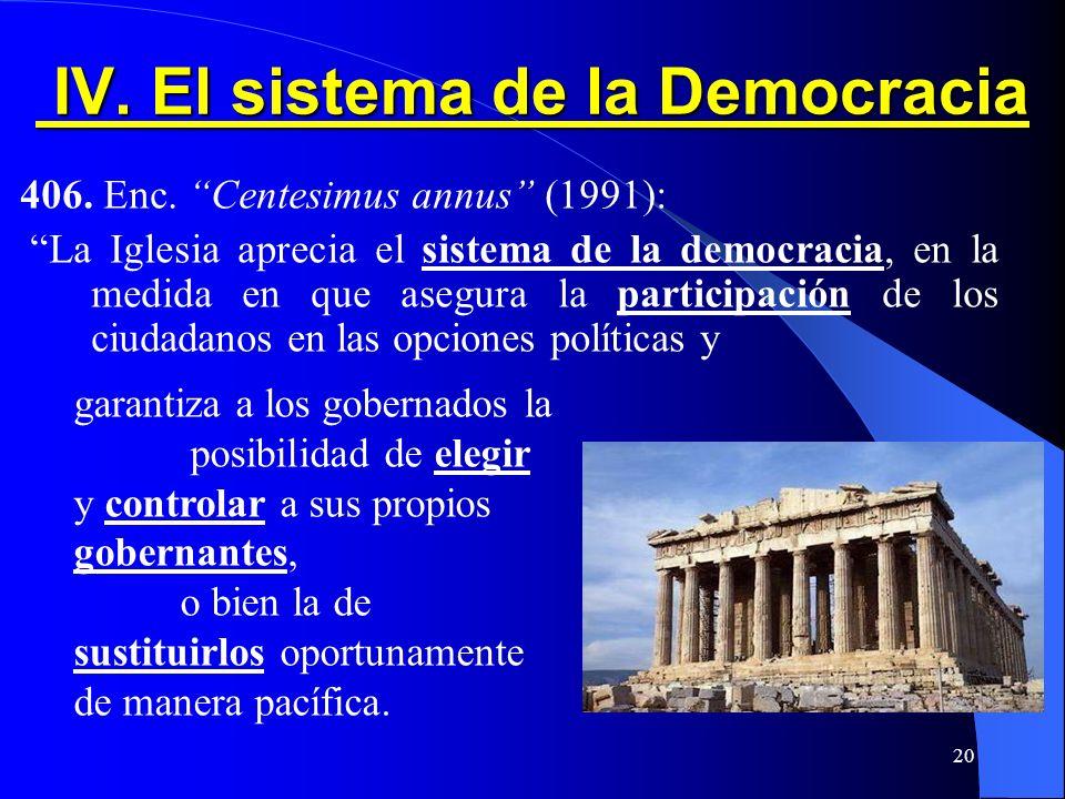 IV. El sistema de la Democracia