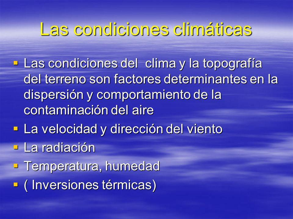 Las condiciones climáticas