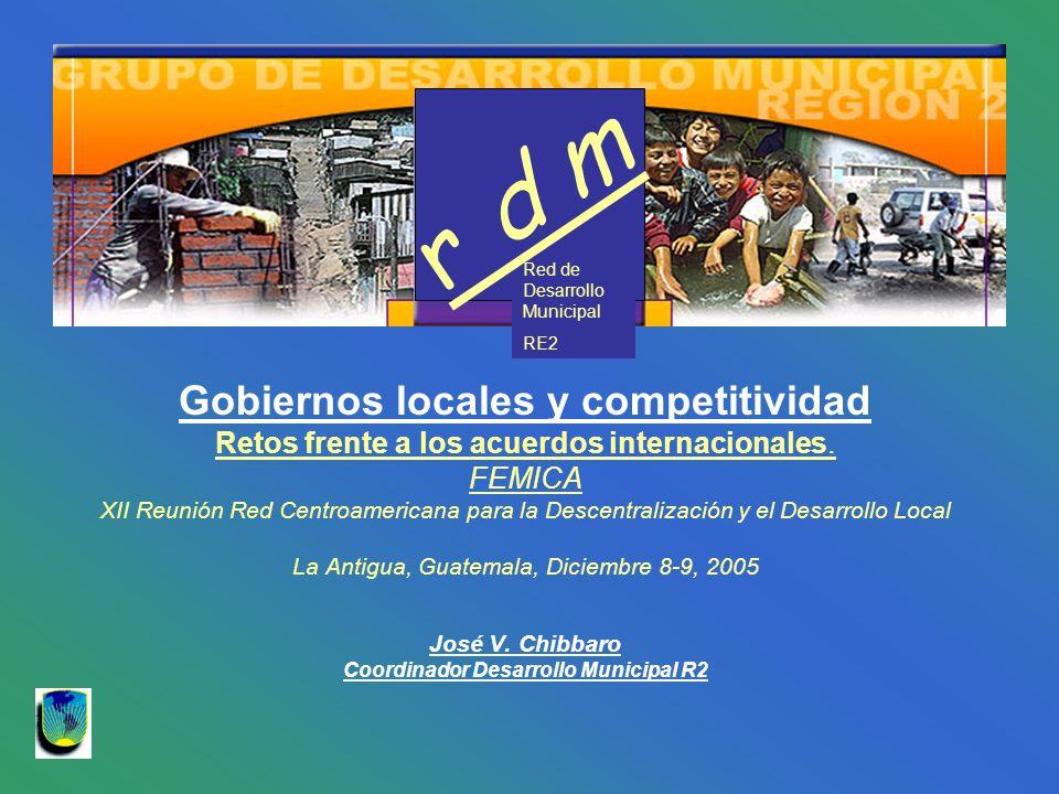 Gobiernos locales y competitividad Coordinador Desarrollo Municipal R2