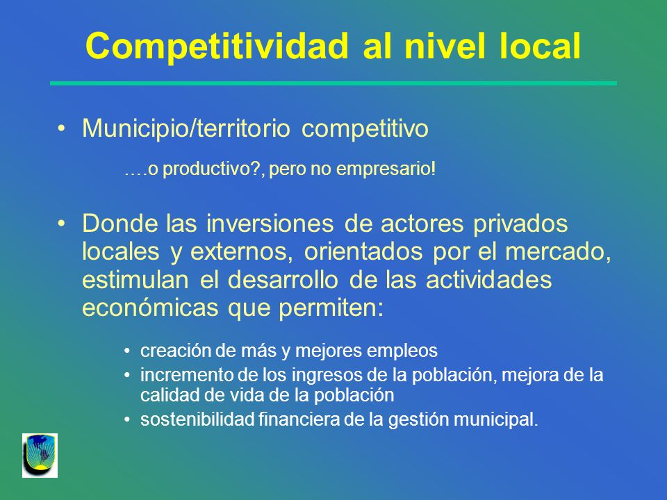 Competitividad al nivel local
